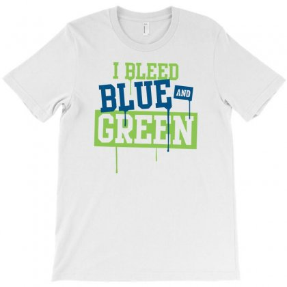 I Bleed Blue And Green T-shirt Designed By Henz Art