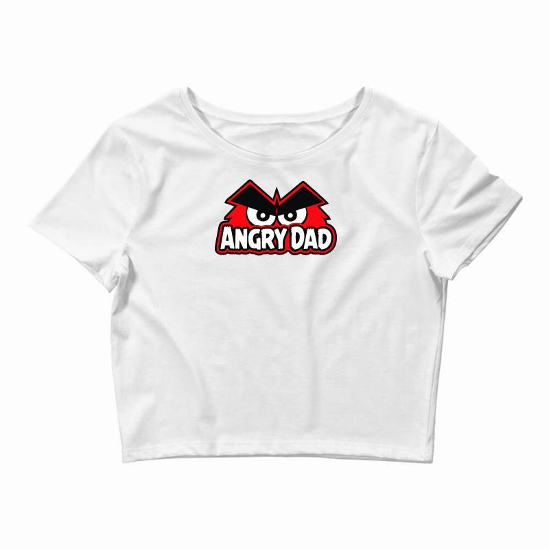 a3bdc6df Custom Angry Dad Crop Top By Mdk Art - Artistshot