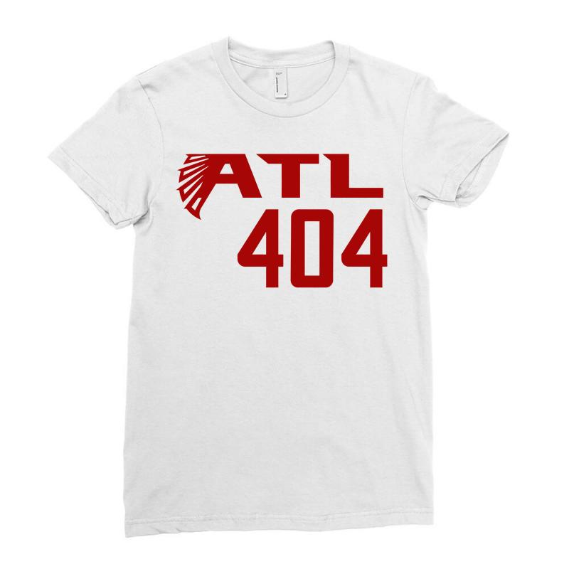 detailed look 098bb 7d56e Atl 404 Atlanta Falcons Ladies Fitted T-shirt. By Artistshot