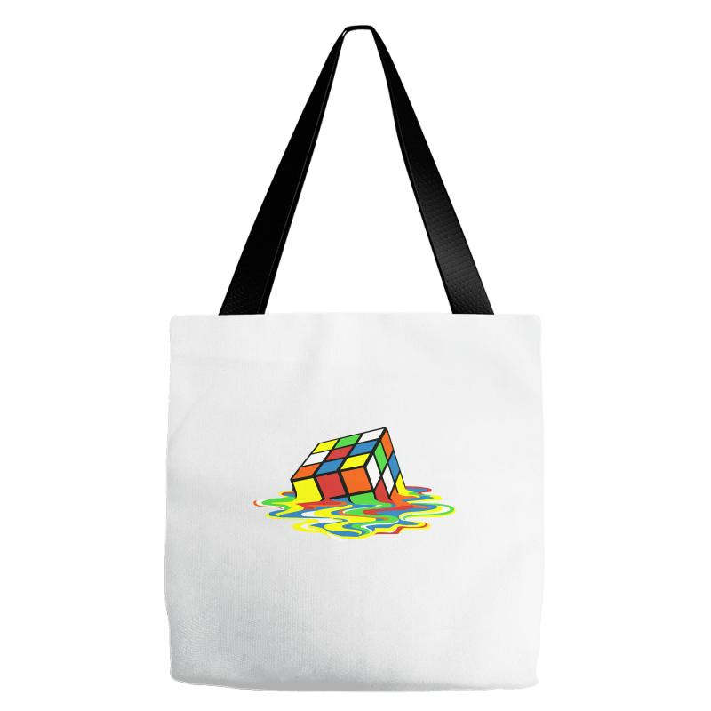 f79accfe623f Big Bang Theory Melting Rubiks Cube Tote Bags. By Artistshot