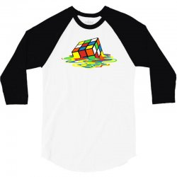 big bang theory melting rubiks cube 3/4 Sleeve Shirt | Artistshot