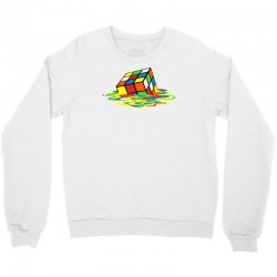 big bang theory melting rubiks cube Crewneck Sweatshirt | Artistshot