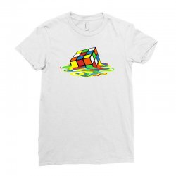 big bang theory melting rubiks cube Ladies Fitted T-Shirt | Artistshot