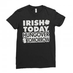 irish today hungover Ladies Fitted T-Shirt | Artistshot