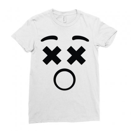 Kids Emoji Smiley Face Emoticon Ladies Fitted T-shirt Designed By Mdk Art