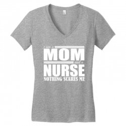 i am a mom and a nurse Women's V-Neck T-Shirt | Artistshot