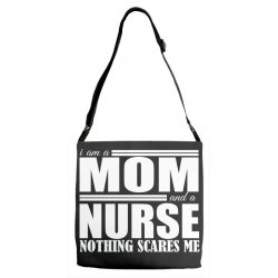 i am a mom and a nurse Adjustable Strap Totes | Artistshot