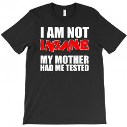 i'm not insane my mother had me tested sheldon cooper big bang theory T-Shirt | Artistshot