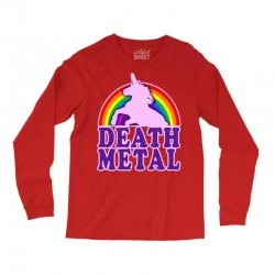 funny death metal unicorn rainbow Long Sleeve Shirts | Artistshot