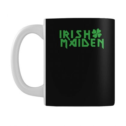 Irish Maiden Kiss Me Iron Or Green Mug Designed By Hezz Art