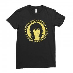 keith richards for president Ladies Fitted T-Shirt | Artistshot