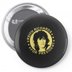 keith richards for president Pin-back button | Artistshot