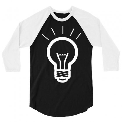Light Bulb Funny 3/4 Sleeve Shirt Designed By Hezz Art