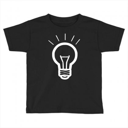Light Bulb Funny Toddler T-shirt Designed By Hezz Art