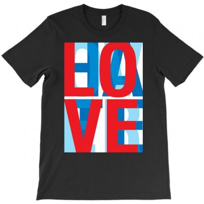 Love Over Hate T-shirt Designed By Hezz Art