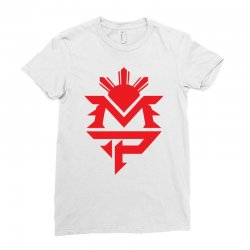 manny pacquiao red mp logo boxer sports Ladies Fitted T-Shirt | Artistshot