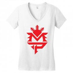 manny pacquiao red mp logo boxer sports Women's V-Neck T-Shirt | Artistshot