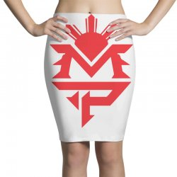 manny pacquiao red mp logo boxer sports Pencil Skirts | Artistshot