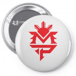 manny pacquiao red mp logo boxer sports Pin-back button | Artistshot