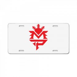 manny pacquiao red mp logo boxer sports License Plate | Artistshot