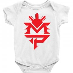 manny pacquiao red mp logo boxer sports Baby Bodysuit | Artistshot