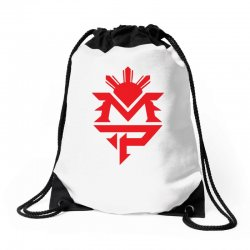 manny pacquiao red mp logo boxer sports Drawstring Bags | Artistshot