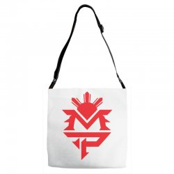 manny pacquiao red mp logo boxer sports Adjustable Strap Totes | Artistshot