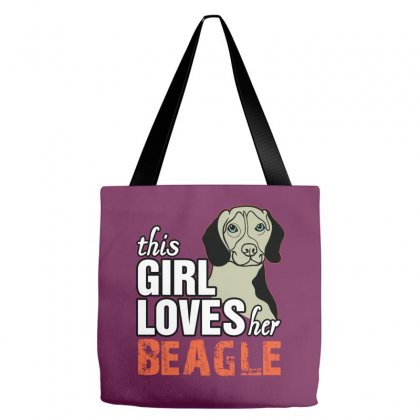 This Girl Loves Her Beagle Tote Bags Designed By Killakam