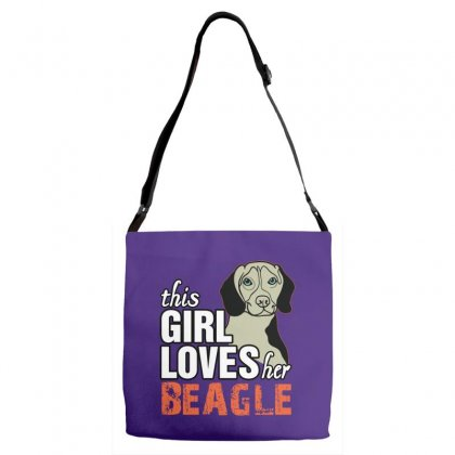This Girl Loves Her Beagle Adjustable Strap Totes Designed By Killakam