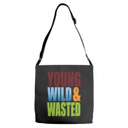 young wild wasted Adjustable Strap Totes | Artistshot