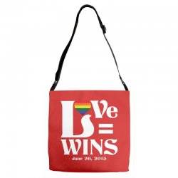 Love Wins Adjustable Strap Totes | Artistshot