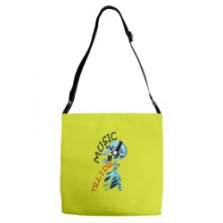 music till i die Adjustable Strap Totes | Artistshot