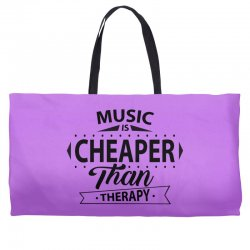 Music Is Cheaper Than Therapy Weekender Totes | Artistshot