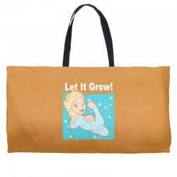 funny gym elsa let it grow frozen fitness Weekender Totes | Artistshot