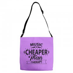 Music Is Cheaper Than Therapy Adjustable Strap Totes | Artistshot