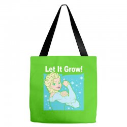 funny gym elsa let it grow frozen fitness Tote Bags | Artistshot