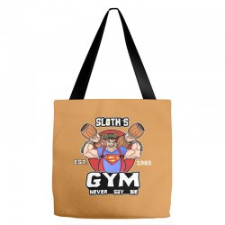 funny gym sloth the goonies fitness t shirt vectorized Tote Bags | Artistshot