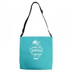 music is the universal language of mankind Adjustable Strap Totes | Artistshot