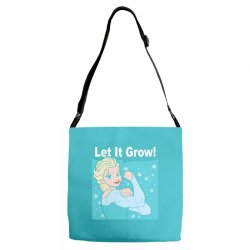 funny gym elsa let it grow frozen fitness Adjustable Strap Totes | Artistshot