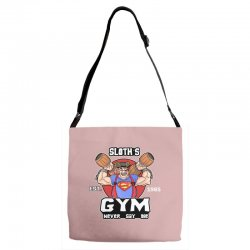 funny gym sloth the goonies fitness t shirt vectorized Adjustable Strap Totes | Artistshot