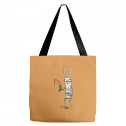 funny rabbit bunny holding a carrot Tote Bags | Artistshot