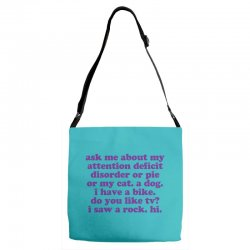 Funny ADHD quote Adjustable Strap Totes | Artistshot