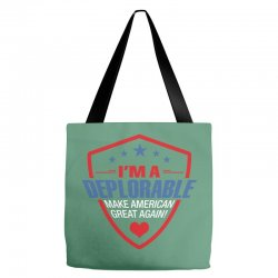 I Am A Deplorable Tote Bags | Artistshot