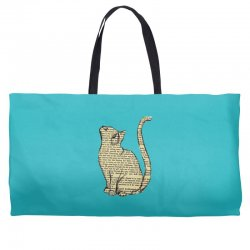 cats text Weekender Totes | Artistshot