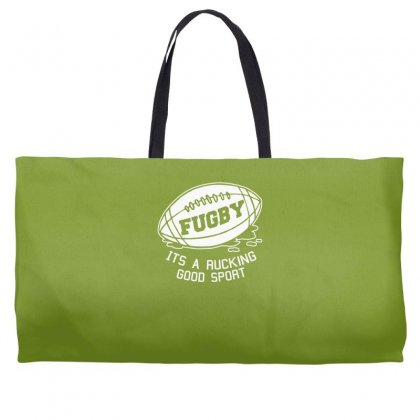 Fugby It's A Rucking Good Game Weekender Totes Designed By Gematees