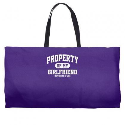 Property Of My Girlfriend Funny Weekender Totes Designed By Gematees