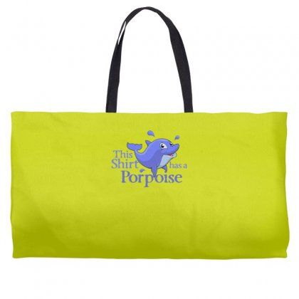 Porpoise Funny Weekender Totes Designed By Gematees