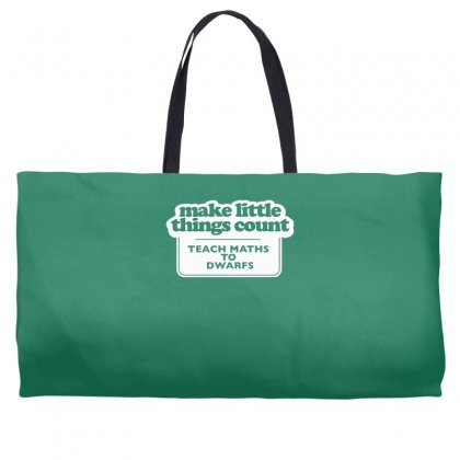 Things Count Teach Maths To Dwarfs Weekender Totes Designed By Gematees