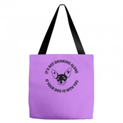 funny drinking dog Tote Bags | Artistshot