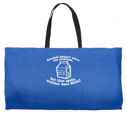 Alcohol Doesn't Solve Any Problems Weekender Totes Designed By Gematees